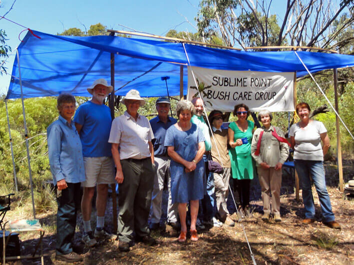 photo of members of the group Lyndal Sullivan, Ross Day, Jeremy Townend, Brian Marshall, Anna Marshall, Piercarlo Cuneo, Joan Gahl, Libby Gahl, Rae Druitt, Christine Cuneo.