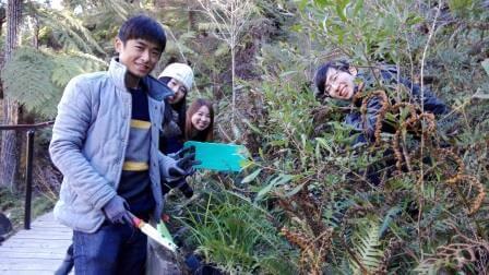 Chinese students at Katoomba Falls