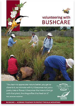 Bushcare welcome booklet cover